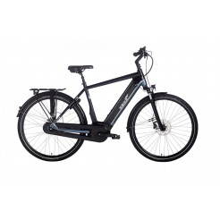 Ebike Das Original S004 Intube Performance Powertube 500 Wh , Route 66 (black-blue Silver Glossy)